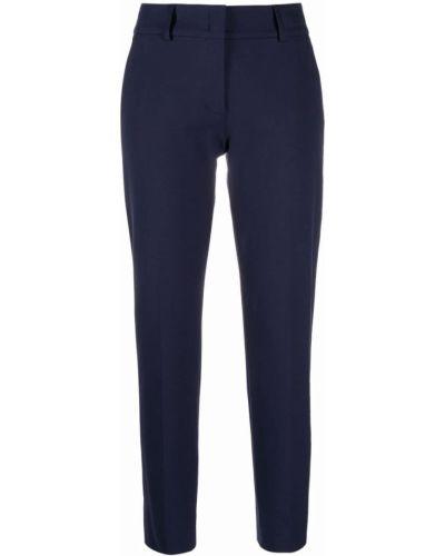 Хлопковые синие укороченные брюки стрейч Piazza Sempione