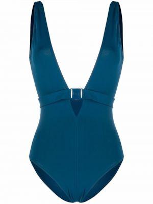 Niebieski strój kąpielowy z dekoltem w serek Eres