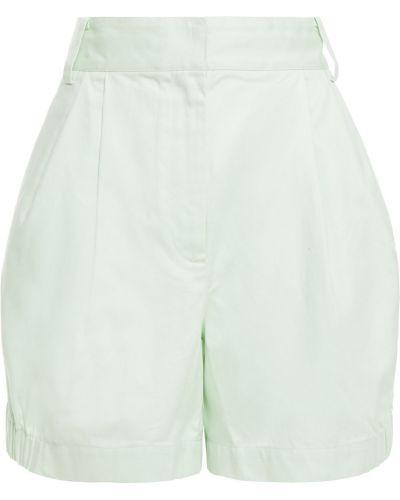 Хлопковые шорты с карманами на крючках Tibi