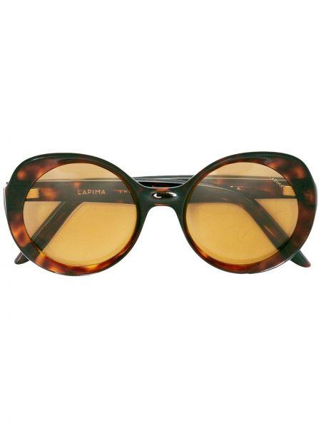Муслиновые солнцезащитные очки круглые хаки Lapima