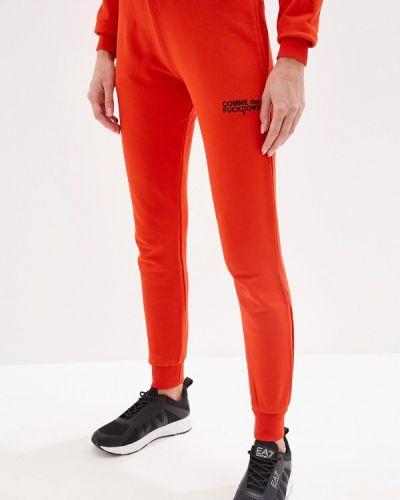 Спортивные брюки пуховые красный Comme Des Fuckdown