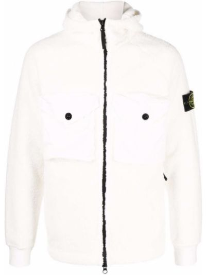 Флисовая куртка - белая Stone Island