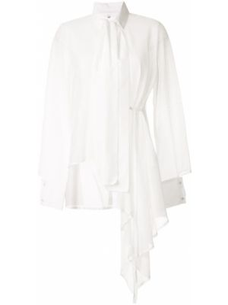 Шелковая рубашка - белая Taylor