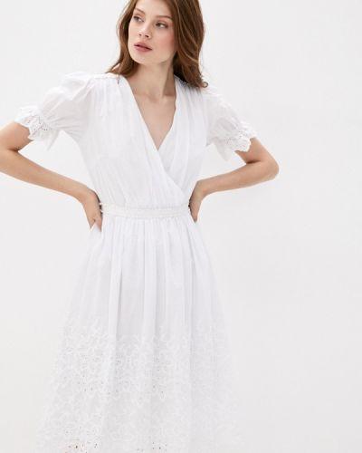 Прямое белое платье Lusio