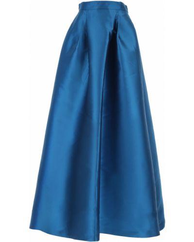 Niebieska spódnica maxi z jedwabiu Alberta Ferretti