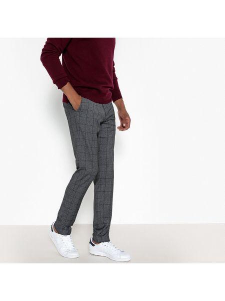 Укороченные брюки в клетку хлопковые La Redoute Collections