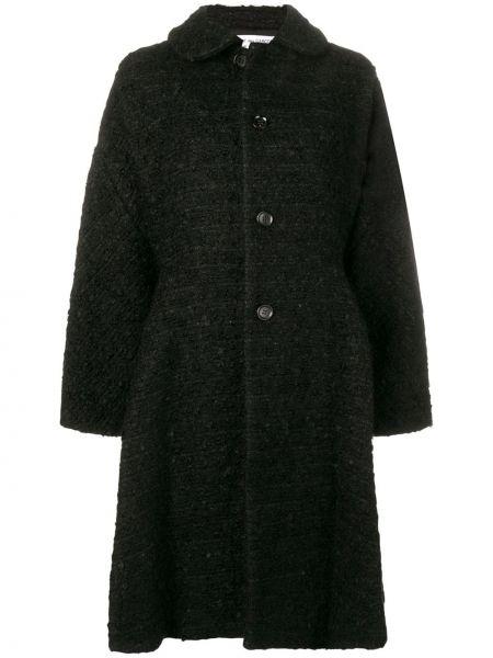 Шерстяное черное пальто классическое с воротником Comme Des Garçons Comme Des Garçons