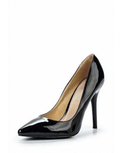 Туфли на каблуке черные кожаные Style Shoes