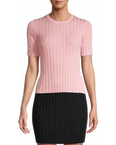 Koszulka prążkowana - różowa Helmut Lang