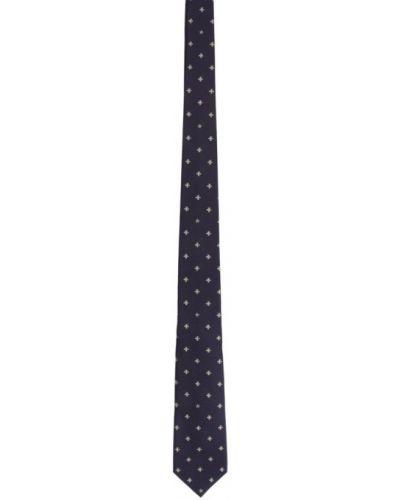 Biały krawat z jedwabiu Gucci