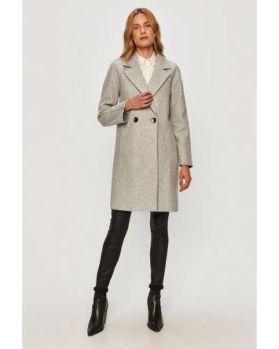 Klasyczny szary płaszcz z kapturem Only