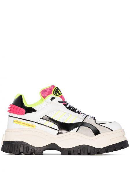 Skórzane sneakersy białe z logo Eytys