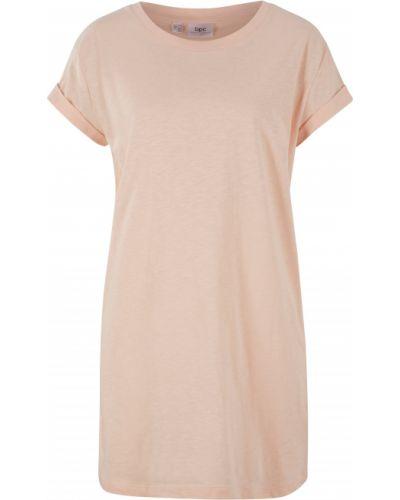 Розовая футболка с круглым вырезом Bonprix