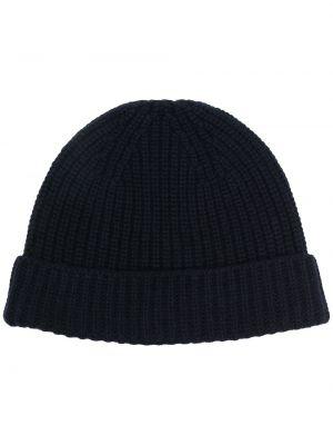 Niebieska z kaszmiru czapka Cruciani
