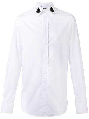 Шелковая белая классическая рубашка с воротником Dolce & Gabbana