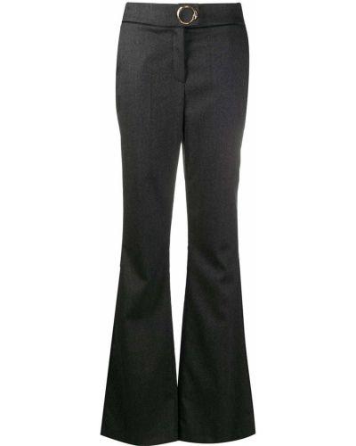 С завышенной талией серые брюки с карманами Cavalli Class
