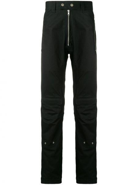Черные прямые брюки с поясом на пуговицах новогодние Gmbh