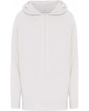 Белый кашемировый свитер с капюшоном Ryan Roche