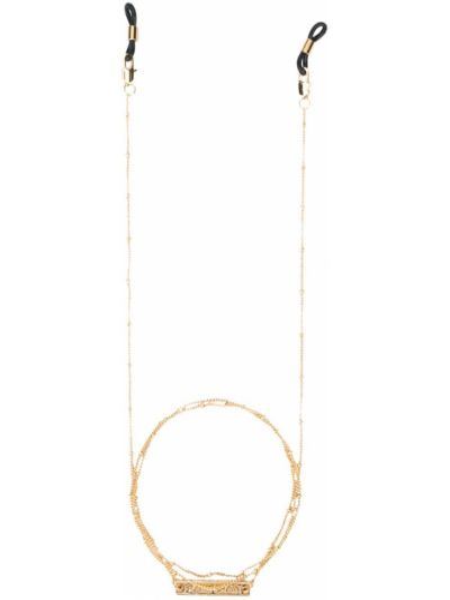 Złote okulary pozłacane Frame Chain