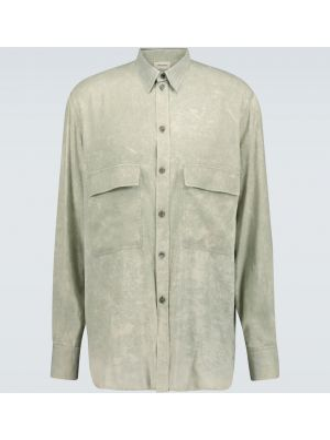 Zielona koszula z jedwabiu Rochas