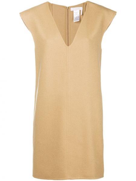 Платье мини с бахромой с V-образным вырезом Chloé