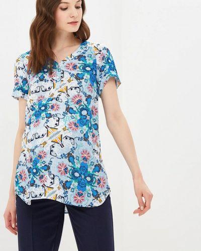 Блузка с короткими рукавами - синяя 9месяцев 9дней