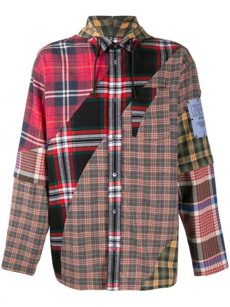 Klasyczna koszula bawełniana z kapturem z długimi rękawami Mcq Alexander Mcqueen