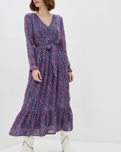 Прямое синее платье А-силуэта Tantra