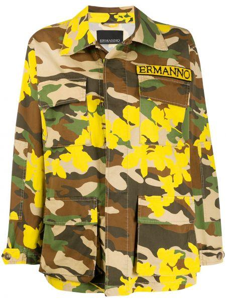 Желтая куртка милитари с воротником Ermanno Ermanno