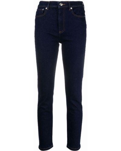 Хлопковые синие джинсы-скинни на молнии A.p.c.