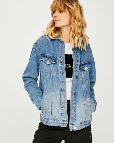 Джинсовая куртка на пуговицах облегченная Trendyol