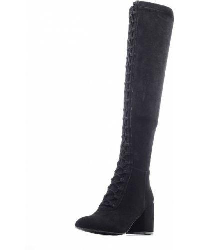 Текстильные черные ботфорты на молнии Dino Ricci