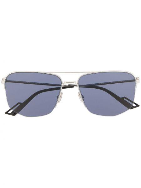 Синие солнцезащитные очки квадратные металлические Dior Eyewear