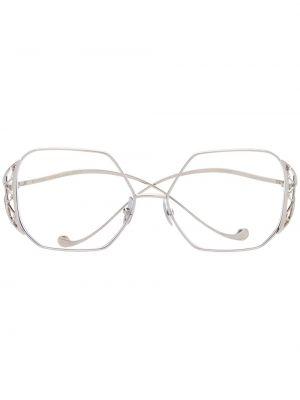 Массивные очки круглые металлические хаки Anna Karin Karlsson