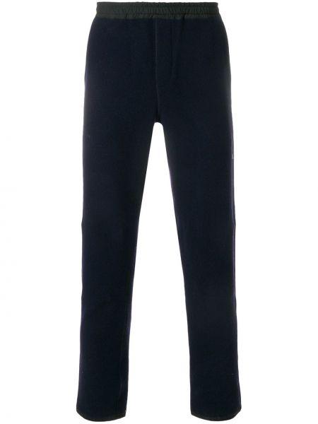 Шерстяные синие спортивные спортивные брюки с карманами Ami Paris