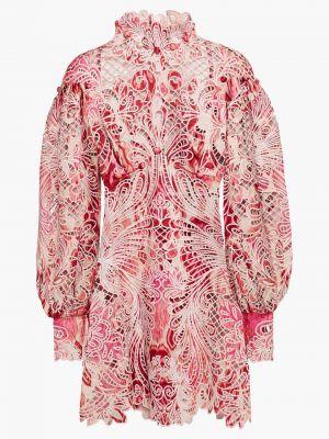 Шелковое платье мини с манжетами Zimmermann
