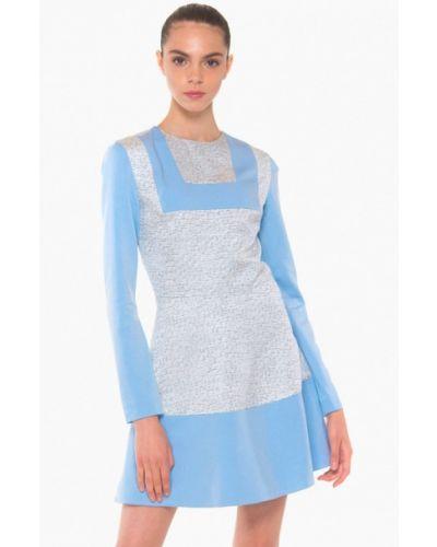 Платье осеннее голубой Nai Lu-na By Anastasia Ivanova