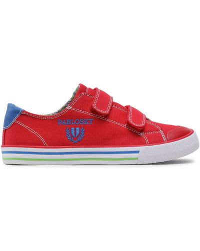 Кожаные кроссовки - красные Pablosky
