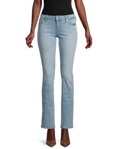 Прямые джинсы классические с вышивкой с карманами True Religion