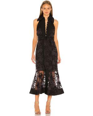 Czarna sukienka midi na co dzień Keepsake