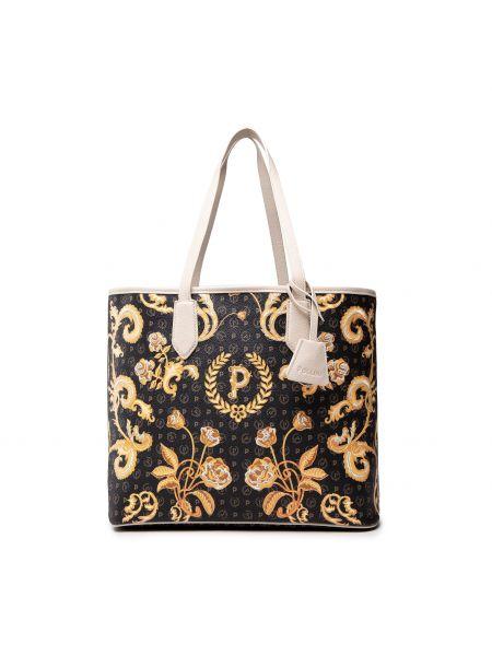 Czarna klasyczna torebka Pollini