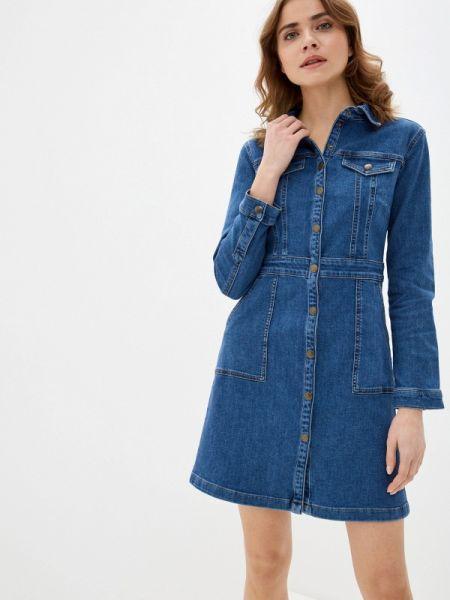 Джинсовое платье синее весеннее Marks & Spencer