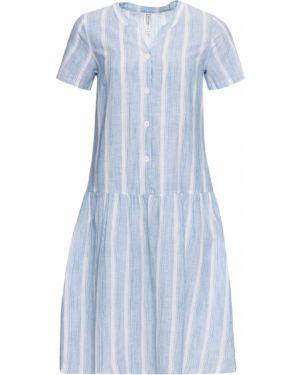 Платье макси в полоску на пуговицах Bonprix