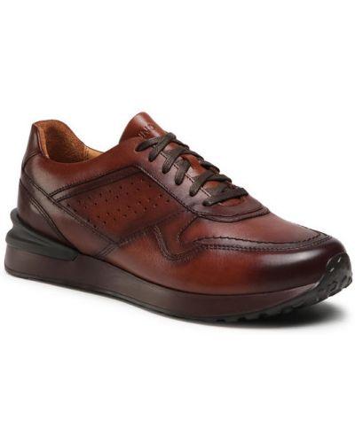 Brązowe sneakersy Gino Rossi