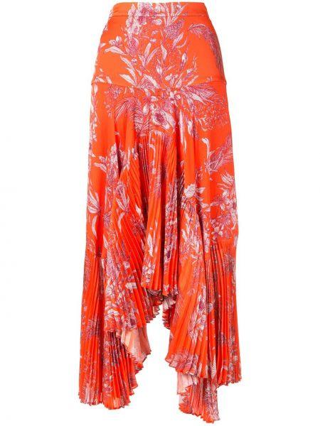 Плиссированная юбка миди с завышенной талией Alexis