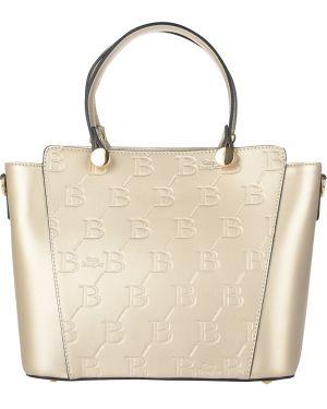 Кожаная сумка - золотая Sara Burglar