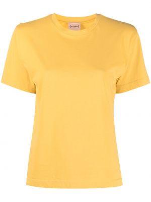 Хлопковая желтая с рукавами рубашка Nude