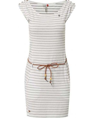 Biała sukienka w paski bawełniana Ragwear