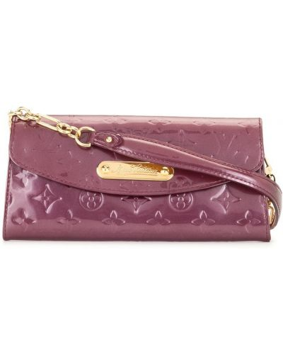 Fioletowa złota kopertówka Louis Vuitton