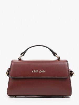 Кожаная сумка через плечо - коричневая Keddo